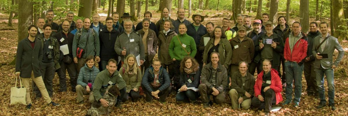 Participants of the workshop visiting Marteloscope 'Steinkreuz'